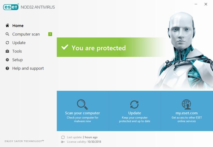 تحميل برنامج ESET NOD32 Antivirus للكمبيوتر برابط مباشر