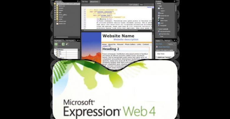 تحميل برنامج expression web من ميديا فاير