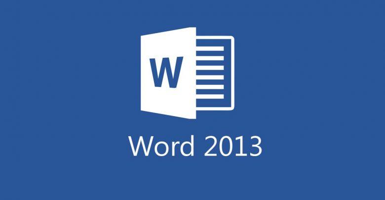تحميل برنامج word 2013 برابط مباشر