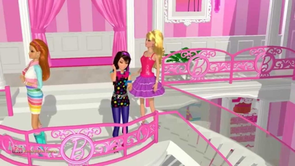 شرح لعبة barbie dream house